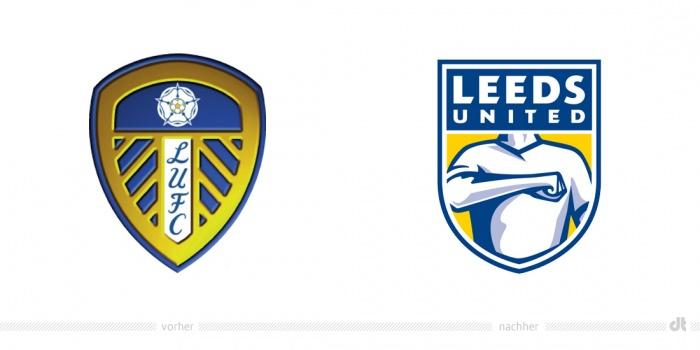 Leeds United Logo – vorher und nachher