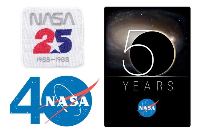 vorherige NASA Jubiläumslogos