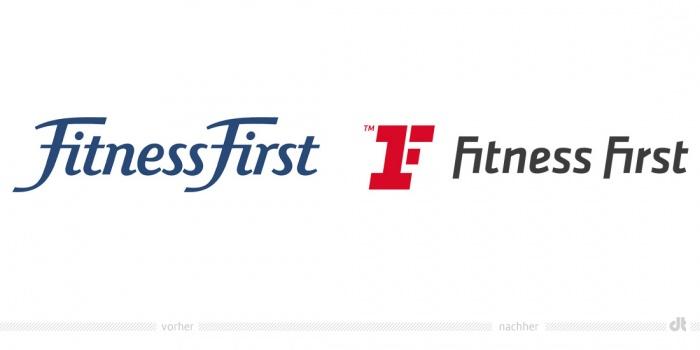 Fitness First Logo – vorher und nachher