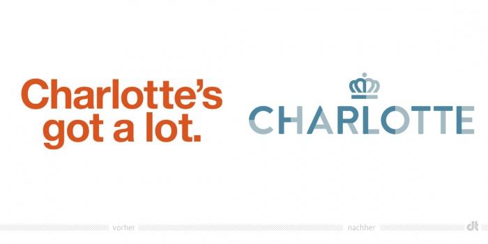 Charlotte Logo – vorher und nachher