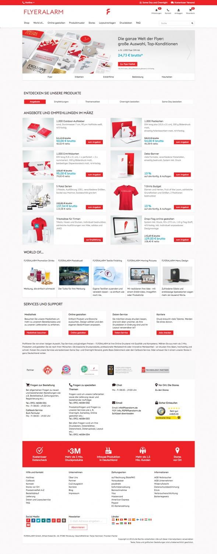 Flyeralarm Website