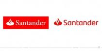 Santander Logo – vorher und nachher