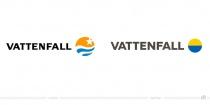 Vattenfall Logo – vorher und nachher