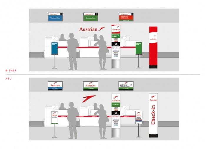 Austrian Airlines Checkin