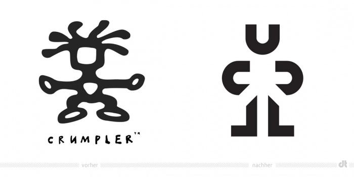 Crumpler Logo – vorher und nachher