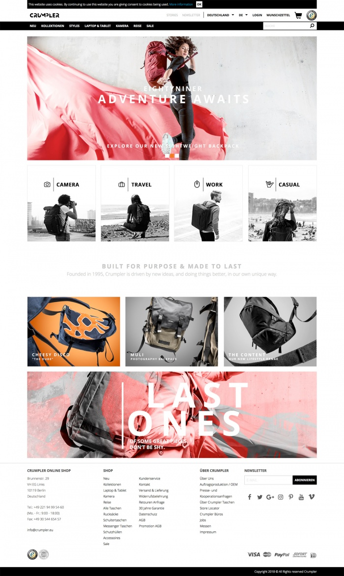 Crumpler Website