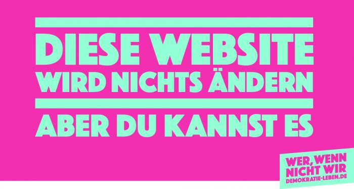"""""""Wer, wenn nicht wir!"""" – Kampagne des Bundesministeriums für Familie, Senioren, Frauen und Jugend (BMFSFJ)"""