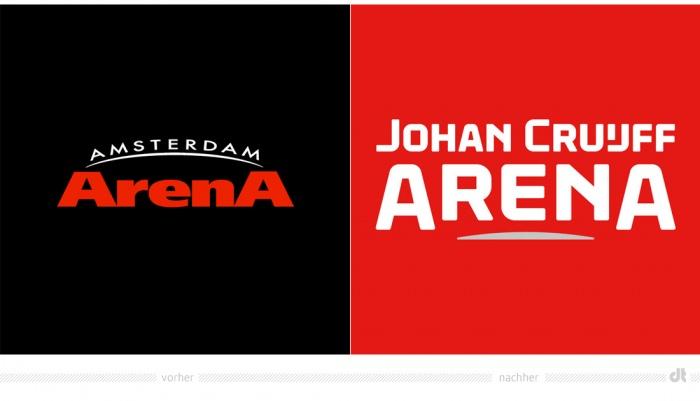 Johan Cruijff Arena Logo – vorher und nachher