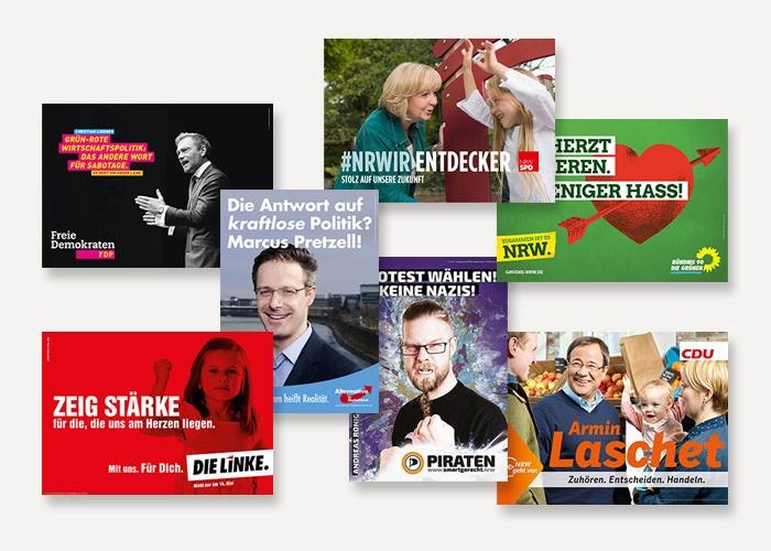 Von prägnant bis lasch: die Wahlplakate zur NRW-Landtagswahl 2017