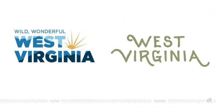 West Virginia Logo – vorher und nachher