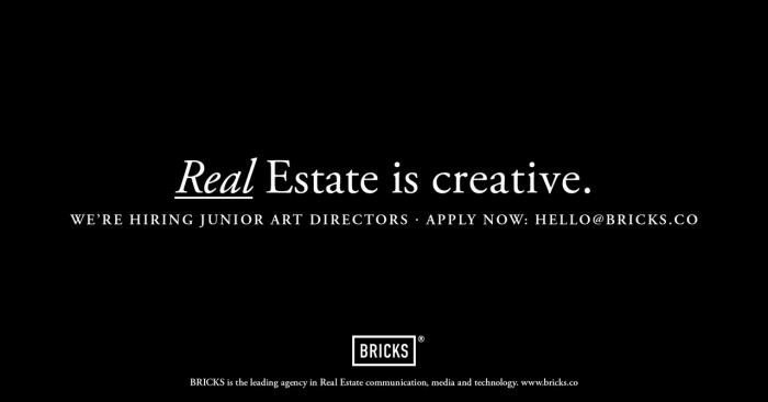 BRICKS Recruting Junior Art Directors