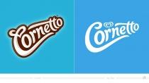 Cornetto Logo – vorher und nachher