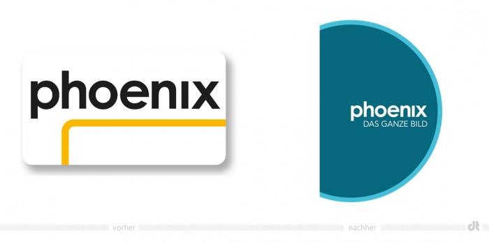 Phoenix Logo – vorher und nachher