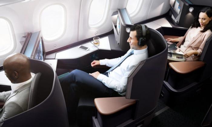 WestJet Dreamliner Cabin Design, Business Class