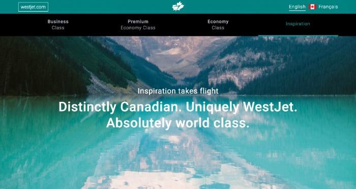 WestJet Website