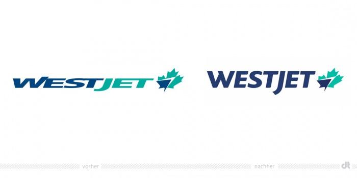 WestJet Logo – vorher und nachher