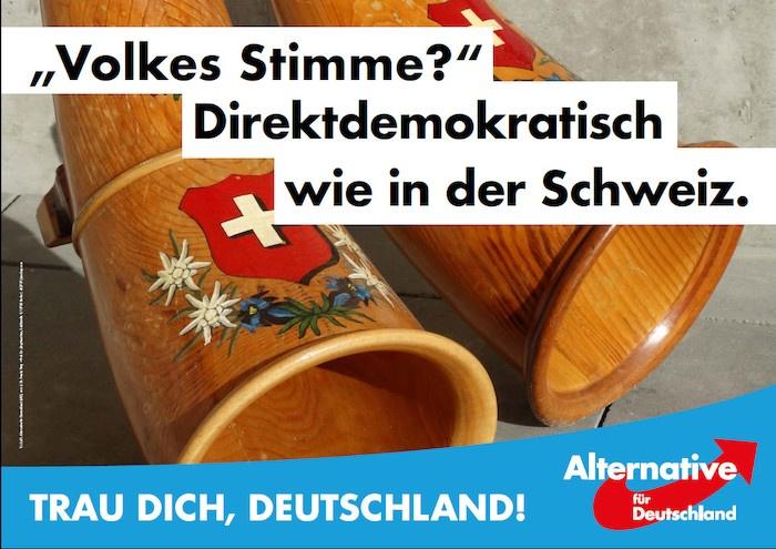 Bundestagswahl 2017 Plakat AfD, direkte Demokratie