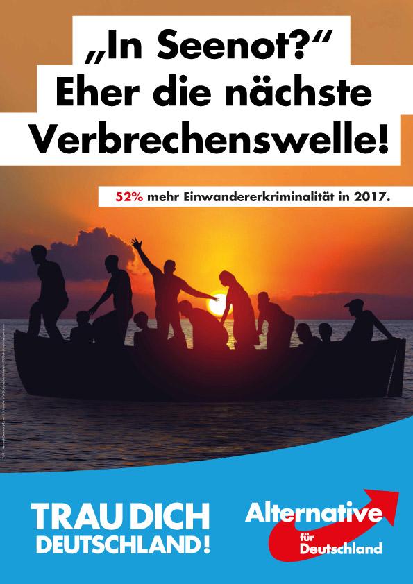 Bundestagswahl 2017 Plakat AfD, Seenot