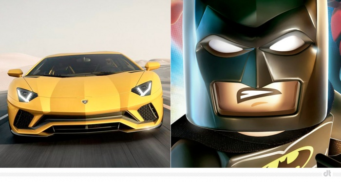 Lamborghini Aventador S – Batman (Lego Movie)