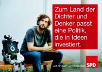 Bundestagswahl 2017 Plakat SPD, Investition
