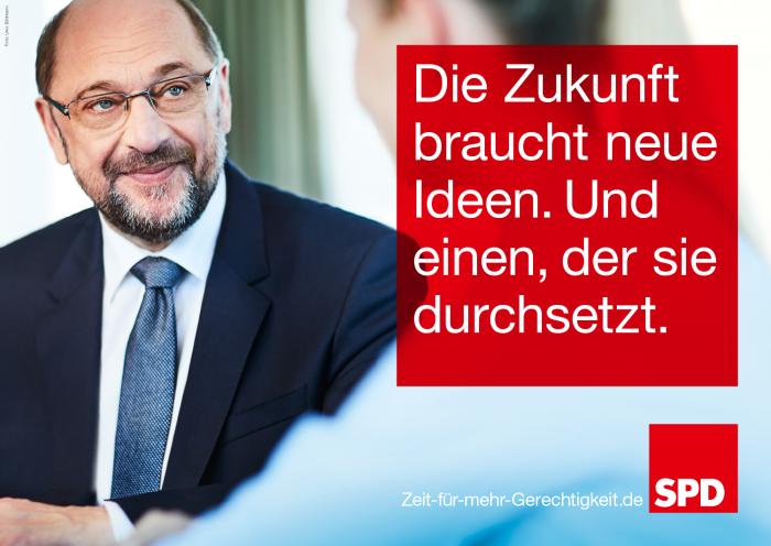 Bundestagswahl 2017 Plakat SPD, Martin Schulz