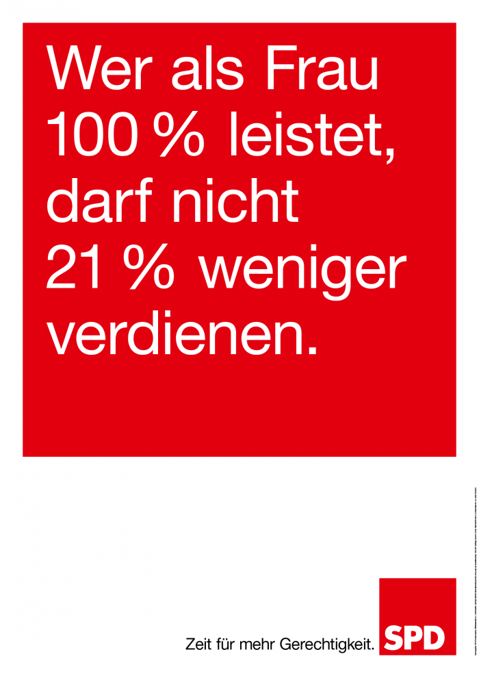 Bundestagswahl 2017 Plakat SPD, Arbeit