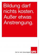 Bundestagswahl 2017 Plakat SPD, Bildung