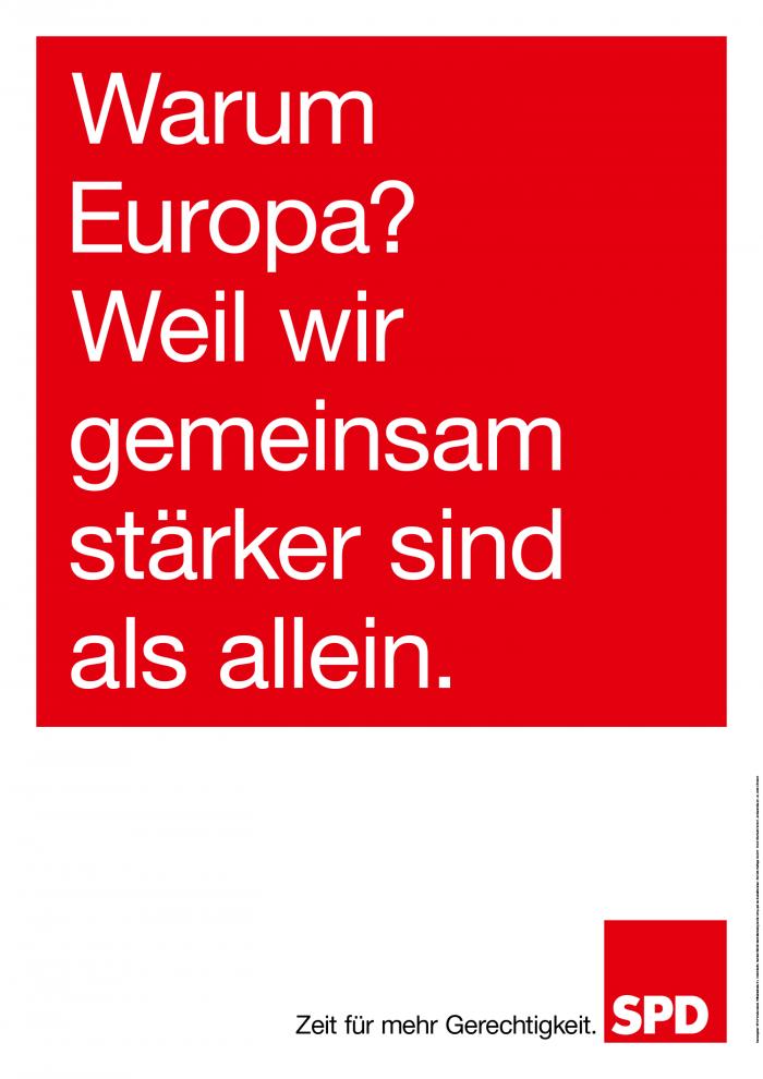 Bundestagswahl 2017 Plakat SPD, Europa