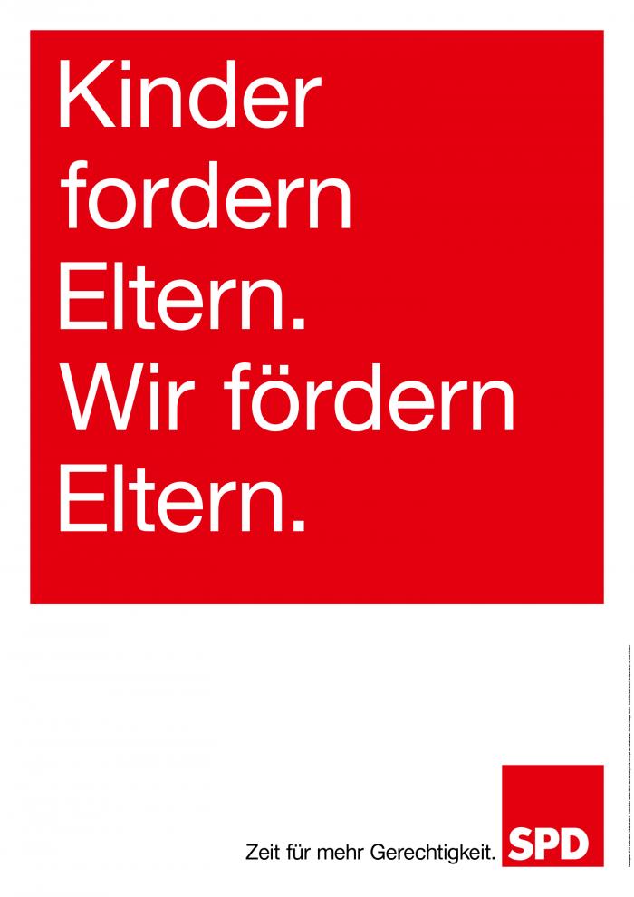 Bundestagswahl 2017 Plakat SPD, Familie