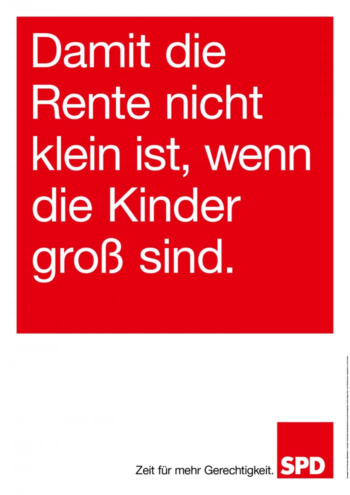 Bundestagswahl 2017 Plakat SPD, Rente