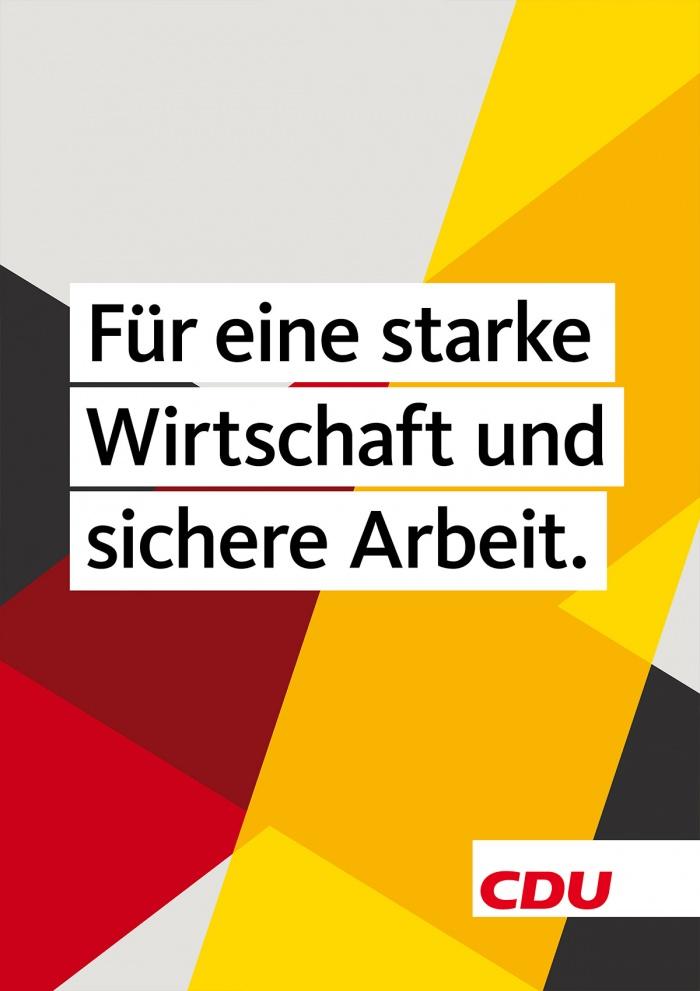 Bundestagswahl 2017 Plakat CDU