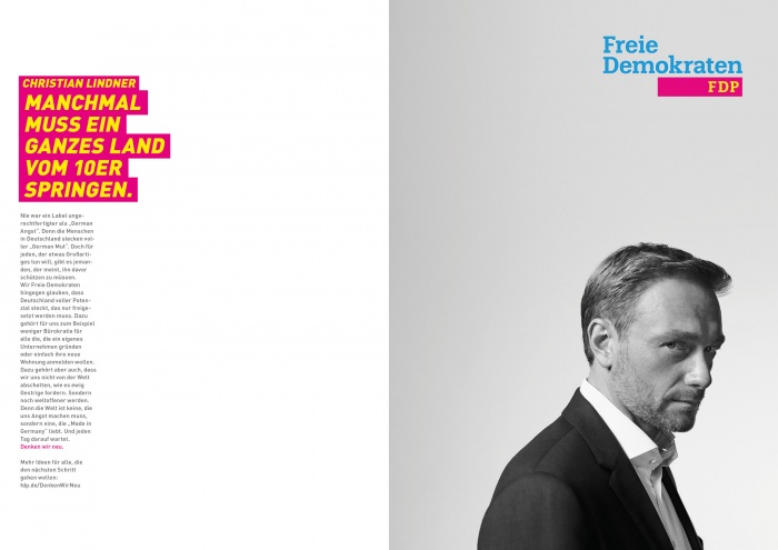 Bundestagswahl 2017 Plakat FDP