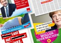Bundestagswahl 2017 Wahlplakatkampagnen