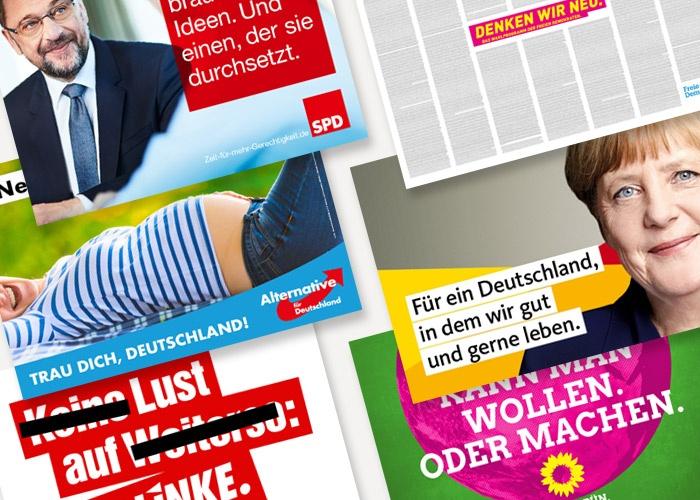 Die Plakate zur Bundestagswahl 2017