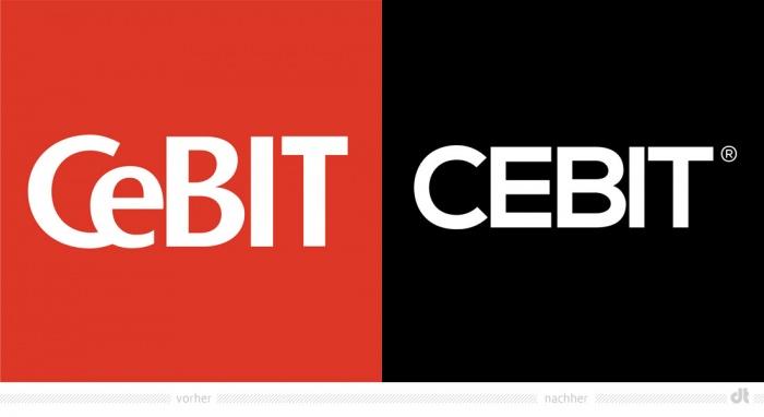 CEBIT Logo – vorher und nachher
