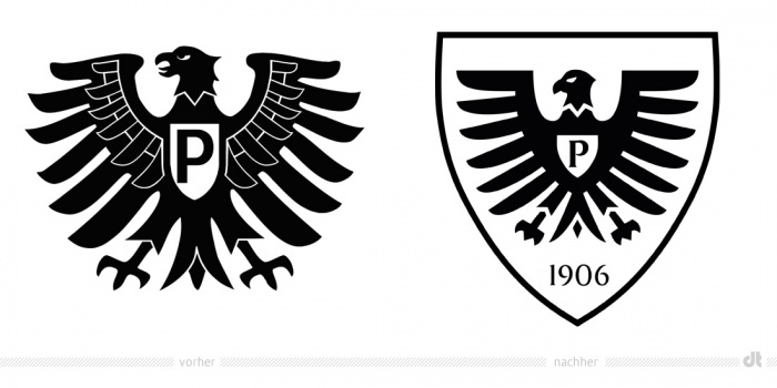 Preußen Münster Logo – vorher und nachher