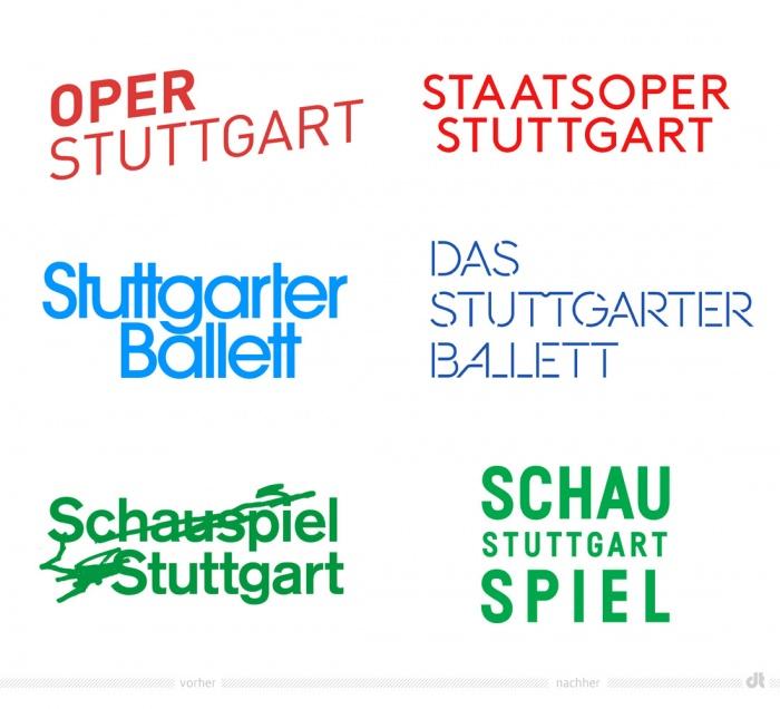 Staatstheater Stuttgart Logos – vorher und nachher