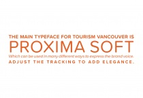Vancouver Tourism Brand Typography