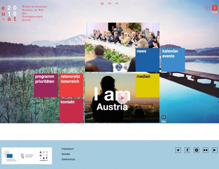 EU-Ratspräsidentschaft Österreich 2018 Website