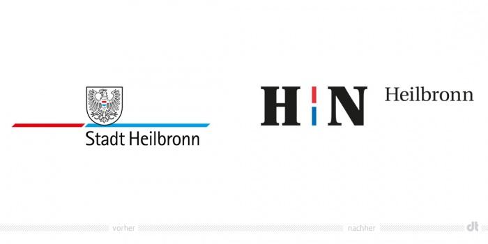 Stadt Heilbronn Logo – vorher und nachher