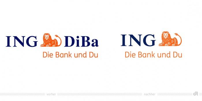 ING Logo – vorher und nachher