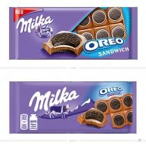 Milka Oreo Sandwich Tafel – vorher und nachher