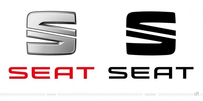 SEAT Logo – vorher und nachher