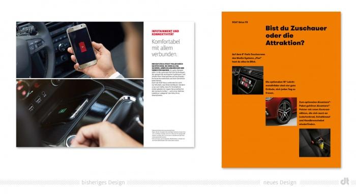 Seat Design – vorher und nachher
