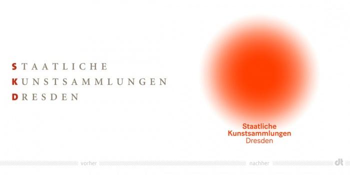 Staatliche Kunstsammlungen Dresden Logo – vorher und nachher