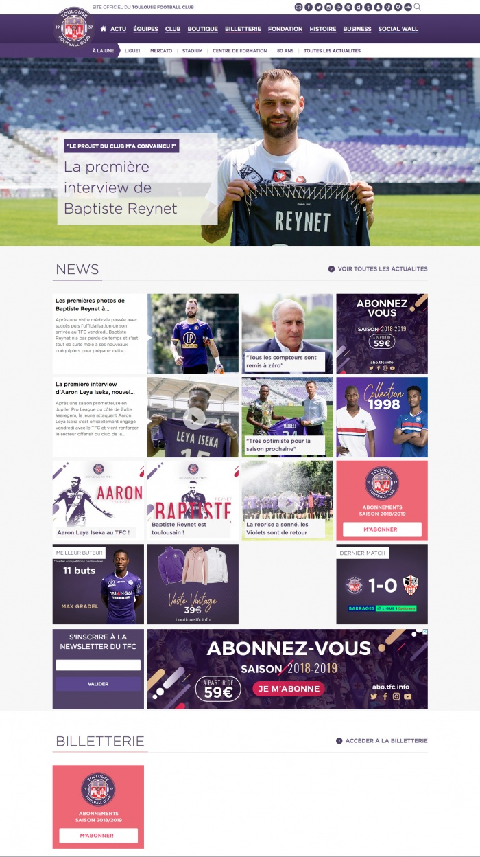 Toulouse FC Website