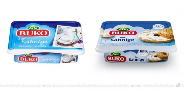Arla Buko Der Sahnige – vorher und nachher