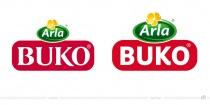 Arla Buko Logo – vorher und nachher