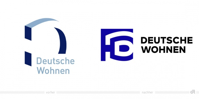 Deutsche Wohnen Logo – vorher und nachher