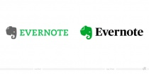 Evernote Logo – vorher und nachher